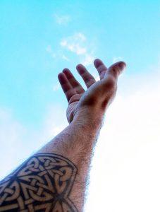 Tatouage interieur du bras homme