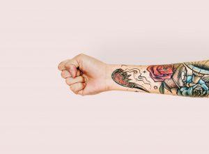 Tatouage japonais bras fleur