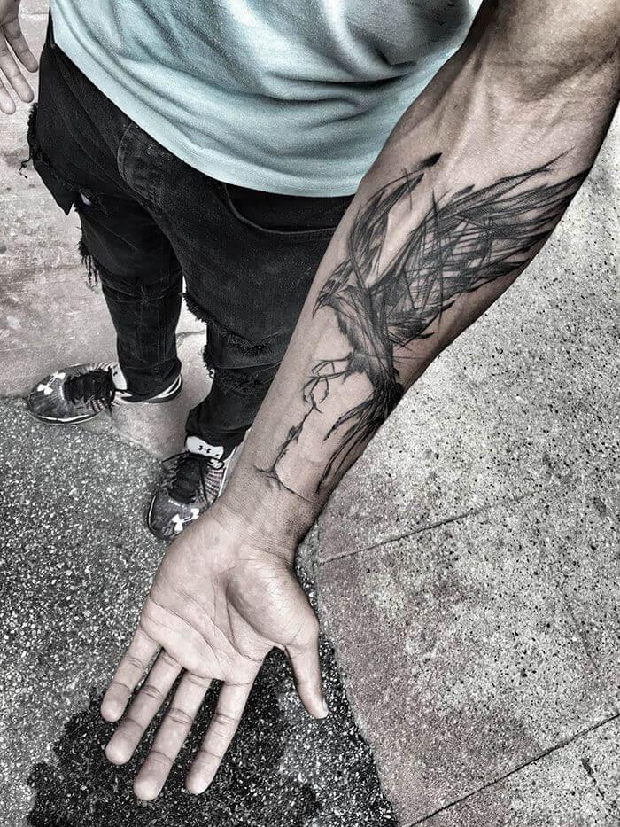 Tatouage phoenix bras homme - Tatouage Bras